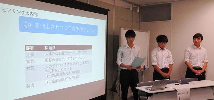 学生のプレゼンテーション